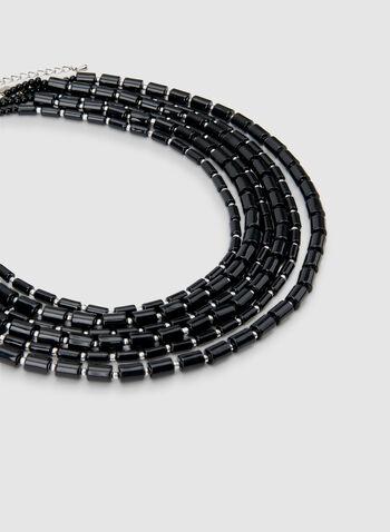Collier à six rangs de billes, Noir,  automne hiver 2019, collier, bijoux, accessoires