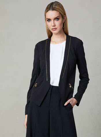 Vex - Zipper Trim Jacket, Black, hi-res,