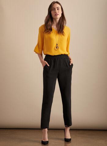 Jeans pull-on à jambe étroite, Noir,  jeans, étroit, poches, pull-on, printemps été 2020