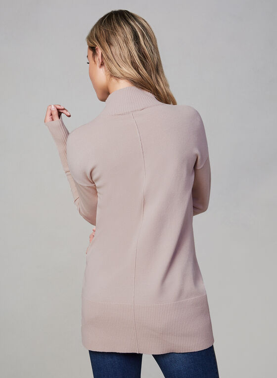 Turtleneck Knit Sweater, Pink