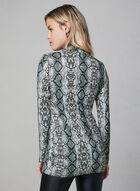 Alison Sheri - Snakeskin Print Turtleneck, Grey