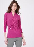 Draped Pearl Detail Top, Purple, hi-res
