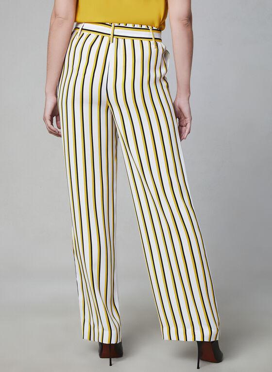 Pantalon à jambe large et rayures, Blanc, hi-res