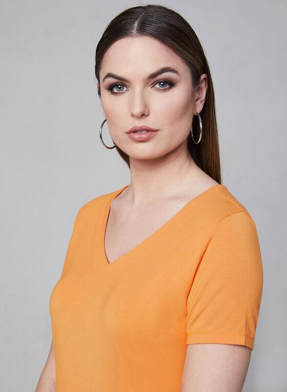 V-Neck T-Shirt, Orange