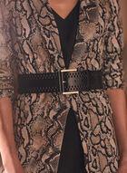 Wide Leather Belt, Black
