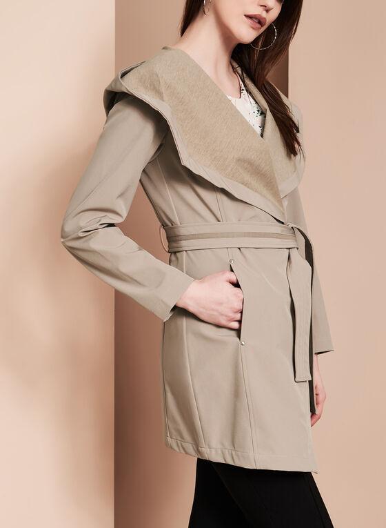 Novelti - Soft Shell Wrap Coat, Brown, hi-res
