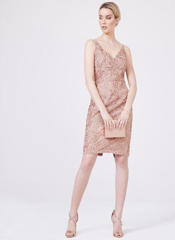 Aidan Mattox - V-Neck Sequin Dress | Melanie Lyne