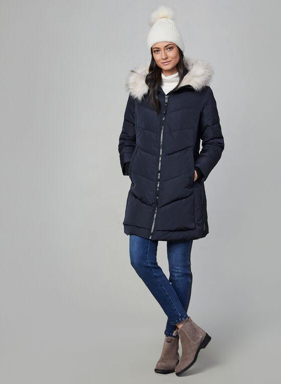Novelti - Manteau en duvet à capuchon, Bleu