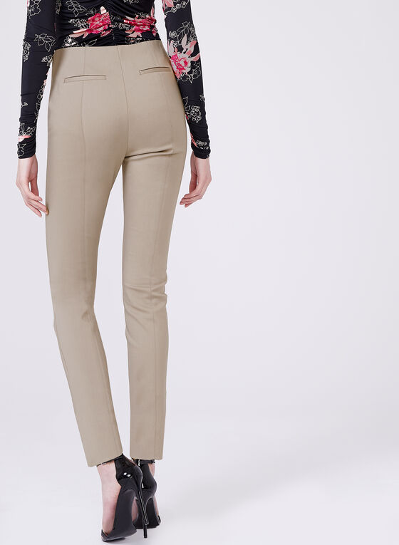 ⅞ Pull-On Slim Leg Pants, Grey, hi-res