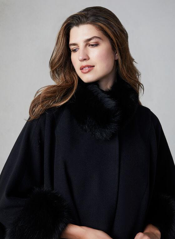 Mallia - Wool & Cashmere Blend Cape, Black