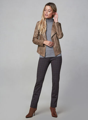 Vex - Faux Suede Jacket, Brown, hi-res,  fall winter 2019, faux suede, long sleeves, jacket