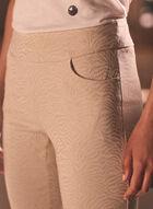 Jacquard Slim Leg Pants, Off White