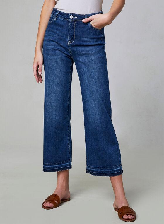 Wide Leg Sculpting Jeans, Blue