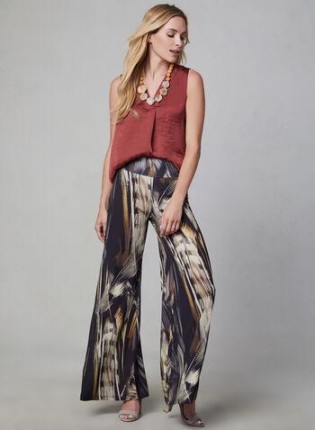 V-Neck Sleeveless Blouse, Brown, hi-res,  blouse, sleeveless, high-low hemline, fall 2019, winter 2019