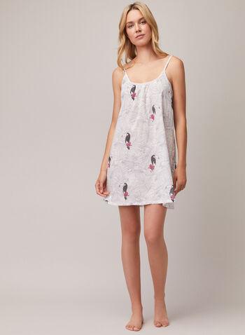 Chemise de nuit à fines bretelles, Blanc,  pyjama, chemise de nuit, fines bretelles, printemps été 2020