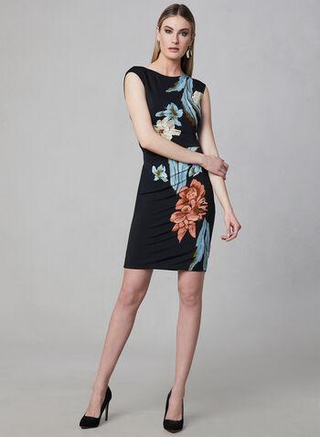 Frank Lyman - Robe fourreau à fleurs, Noir, hi-res
