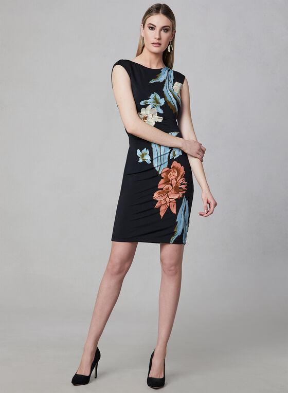 Frank Lyman - Floral Print Dress, Black, hi-res