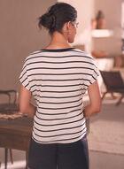 Cherry Applique Striped T-Shirt, White