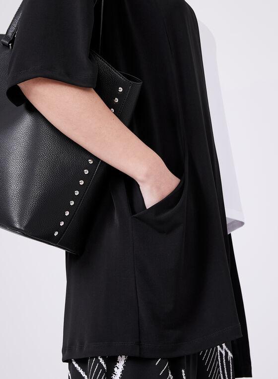 Clara Sunwoo – Open Front Kimono Top, Black, hi-res