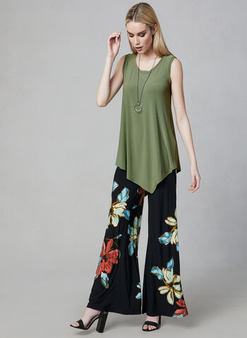 Joseph Ribkoff - Asymmetric Sleeveless Top, Green, hi-res