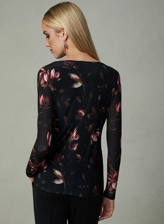 Floral Print Long Sleeve Top, Multi, hi-res