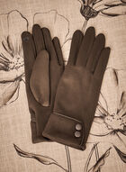 Faux Suede Gloves, Green