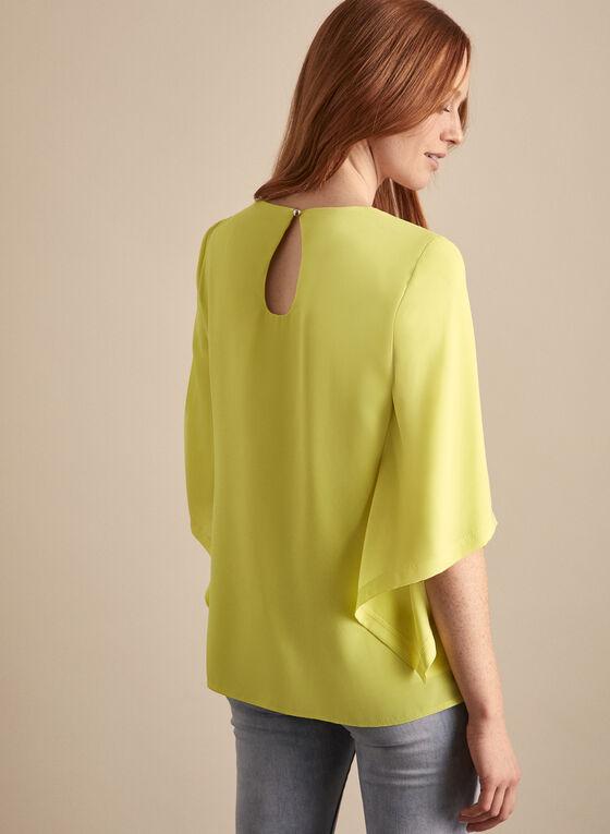 Joseph Ribkoff - Draped Sleeve Blouse, Yellow