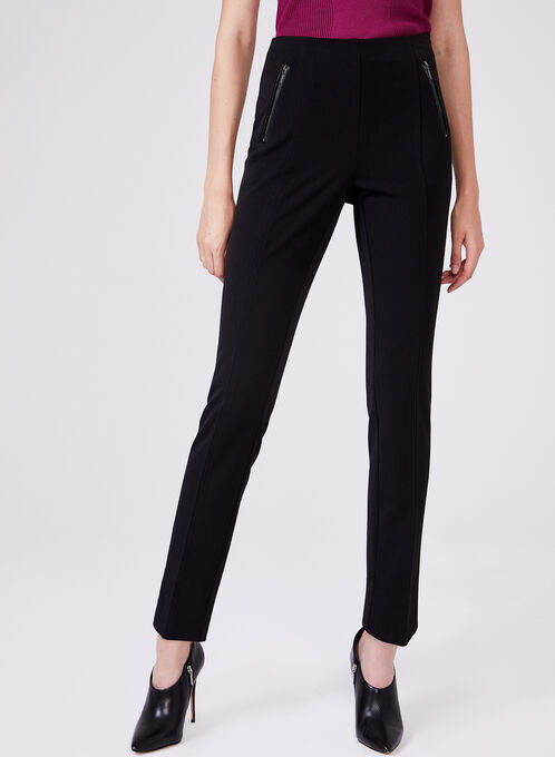 Amber Slim Leg Pants, Black, hi-res