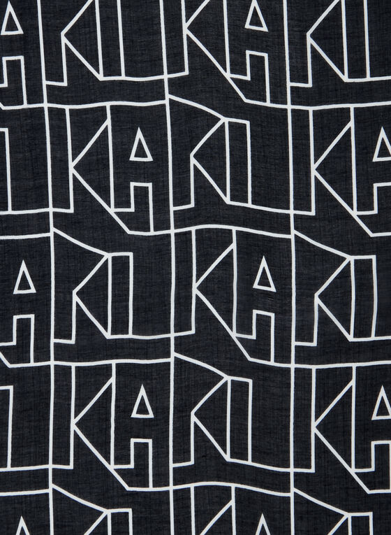 Karl Lagerfeld Paris - Abstract Text Scarf, Black