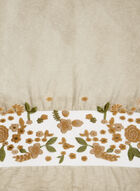 Embroidered Floral Wrap, Off White, hi-res