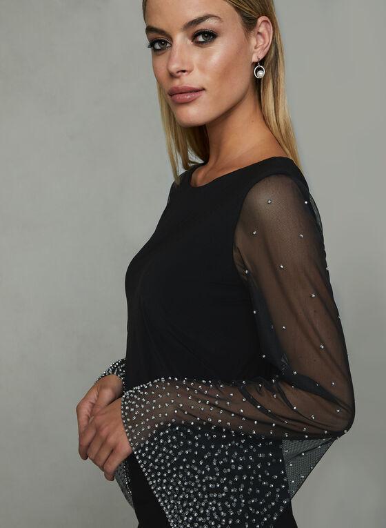 Cachet - Illusion Sleeve Dress, Black, hi-res