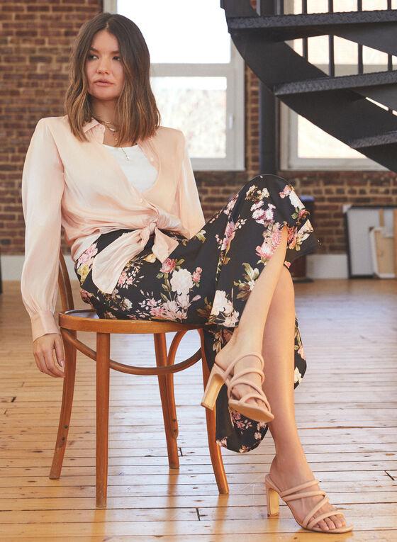 Vince Camuto - Floral Print Midi Skirt, Black