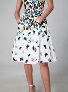 Maggy London - Robe à fleurs et papillons, Blanc, hi-res