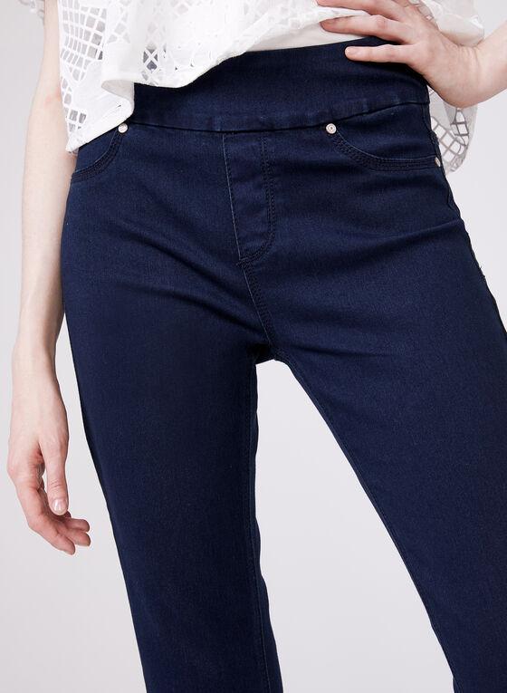Carreli Jeans - Capri denim pull-on à revers, Bleu, hi-res