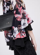 Floral Print Bell Sleeve Blouse, Multi, hi-res
