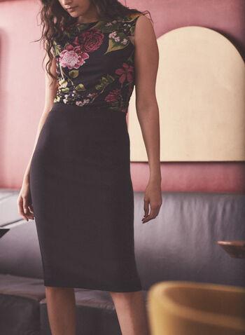 Pull-On Pencil Skirt , Black,  fall winter 2020, pencil skirt, ponte di roma