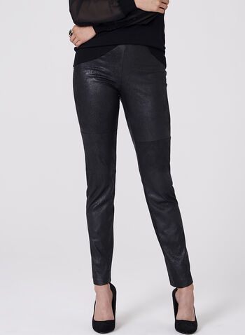 Conrad C - Faux Leather Leggings , Black, hi-res