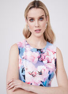 Nicole Miller - Floral Print Sheath Dress, Blue, hi-res