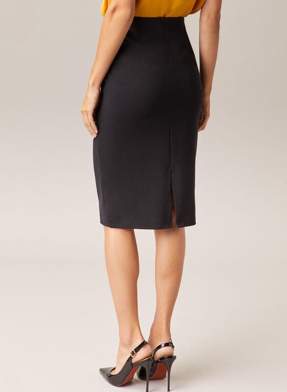 Pull-On Pencil Skirt, Black
