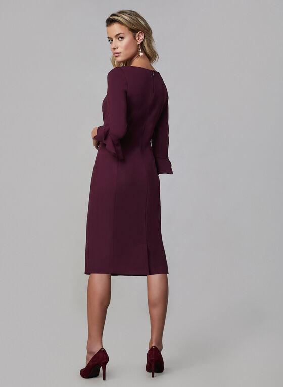 Karl Lagerfeld Paris - Robe droite à manches tulipe, Violet