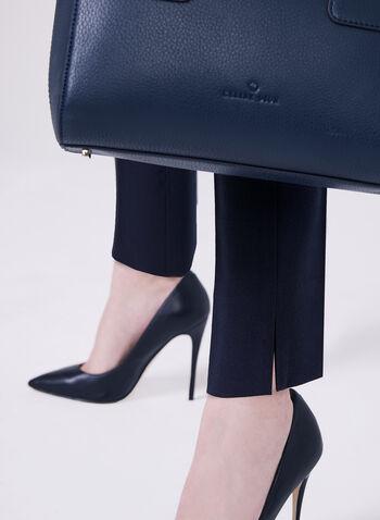 Louben - Pantalon tailleur à jambe étroite, Bleu, hi-res
