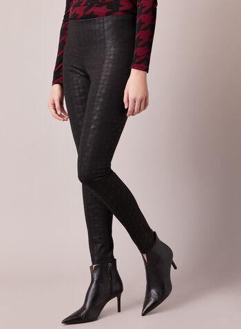 Legging Kayla à motif pied-de-poule, Noir,  automne hiver 2020, legging, pantalon, taille élastique, pull-on, à enfiler, motif, pied-de-poule, point de Rome