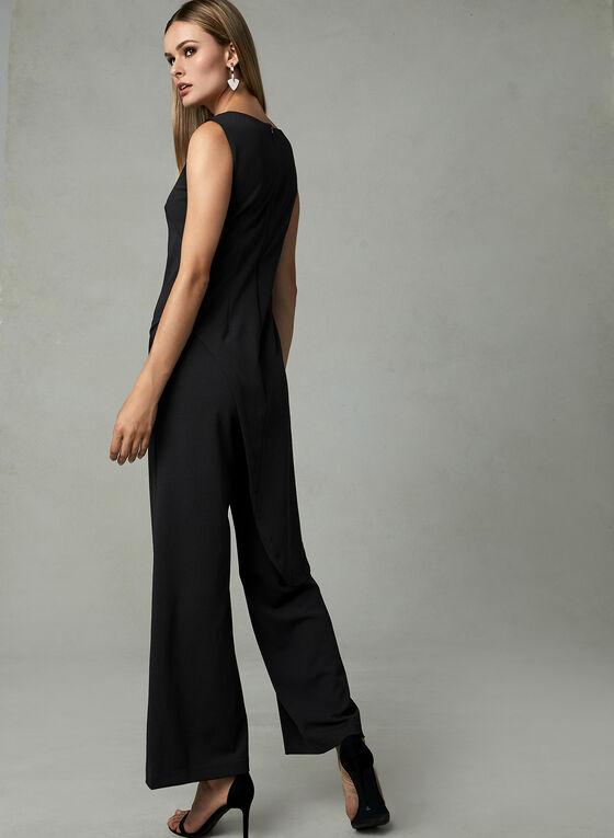 Adrianna Papell - Sleeveless Crepe Jumpsuit, Black, hi-res