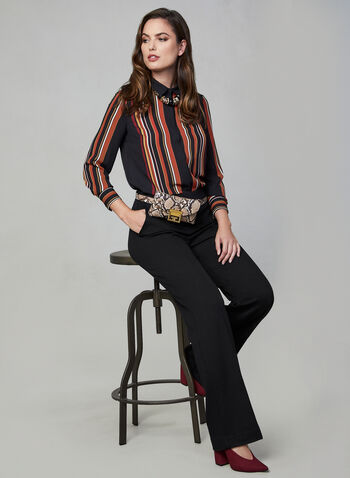 Pull-On Wide Leg Pants , Black, hi-res,  pants, wide legs, elastic waist, pull-on, fall 2019, winter 2019