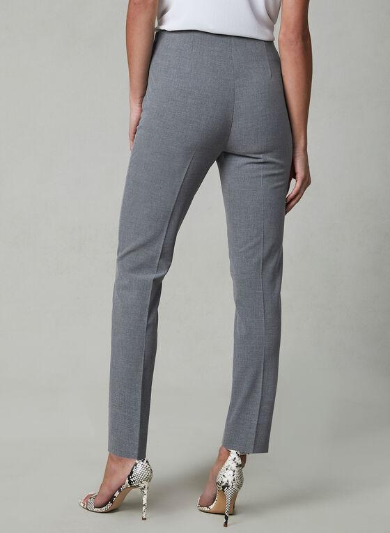 Amber Fit Slim Leg Pants, Grey