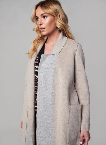 SOSKEN - Double Face Wool Coat, Off White, hi-res,  fall winter 2019, wool blend, notch collar