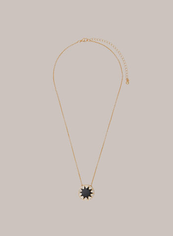 Star Pendant Necklace, Black,  necklace, jewellery, star, pendant, golden, crystals, chain, fall winter 2020