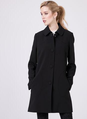 Nuage - Manteau mi-long style redingote, Noir, hi-res