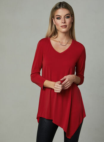 Compli K - Asymmetric Jersey Top, Red, hi-res