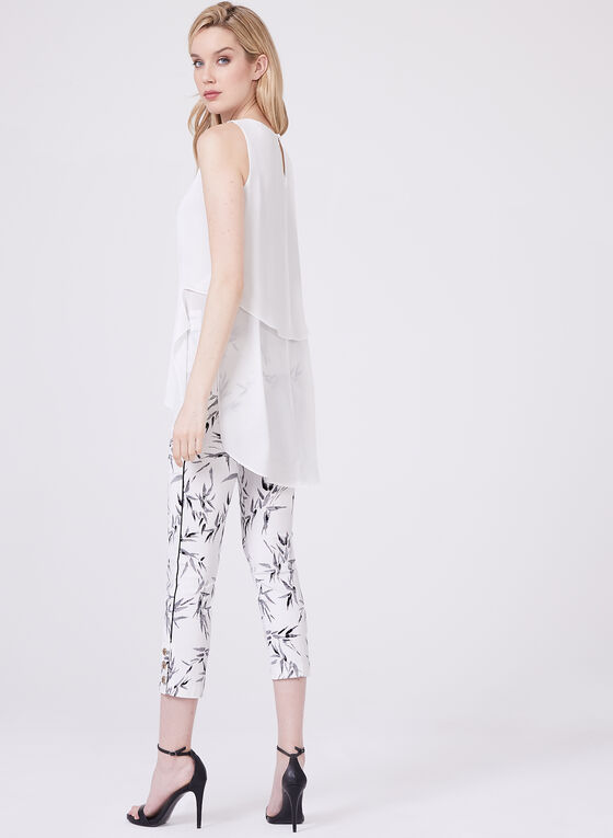 Sleeveless top Blouses, Off White, hi-res